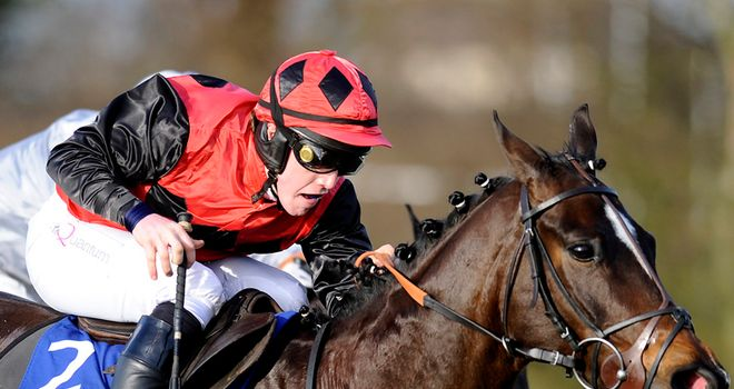 Aikman: Powered to victory at Huntingdon.