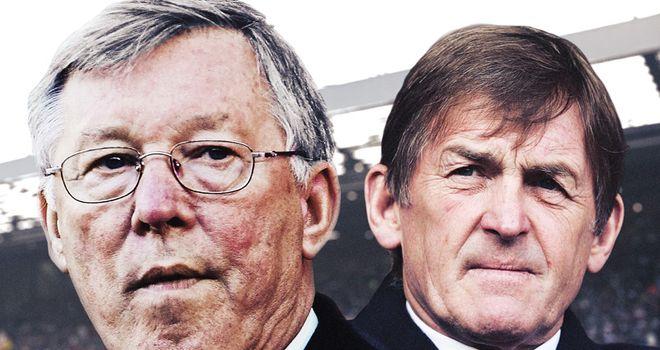 Sir Alex Ferguson and Kenny Dalglish: Set to go head-to-head when Liverpool host United