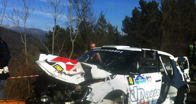 Crash: the wreck of Kubica's car