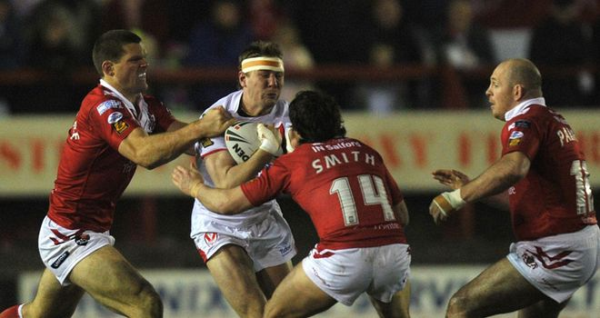 Shenton: scored his first try for his new employers