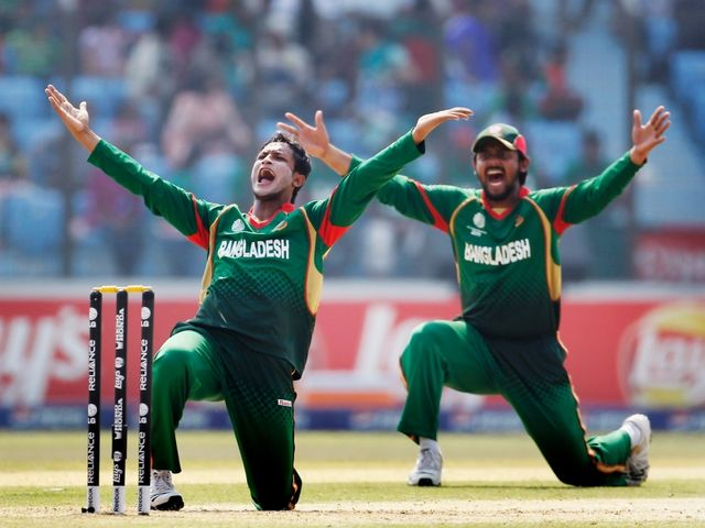 Shakib Al Hasan (l): Four for 16