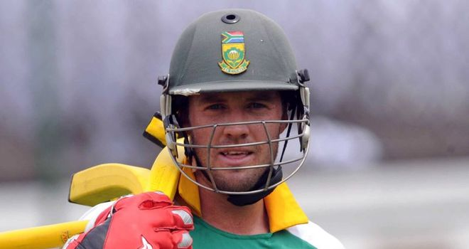 De Villiers: needs hand surgery and will be out for up to six weeks