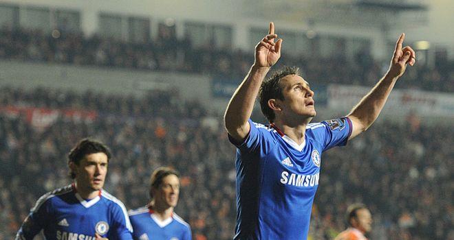 Lampard celebrates his brace