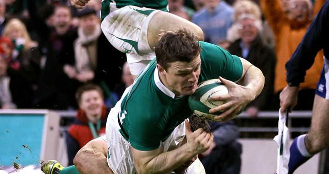 O'Driscoll: Record-breaking try