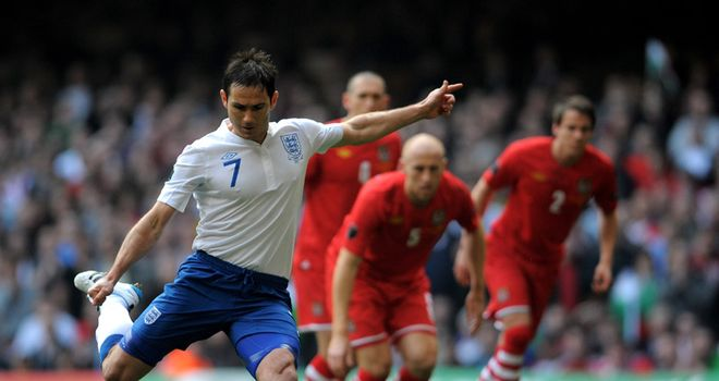 Frank Lampard: Has converted seven penalties while donning the colours of his country