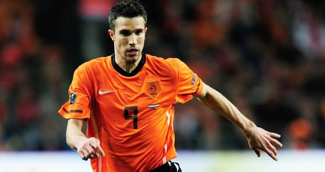 Van Persie: Scored four as Holland run riot against San Marino