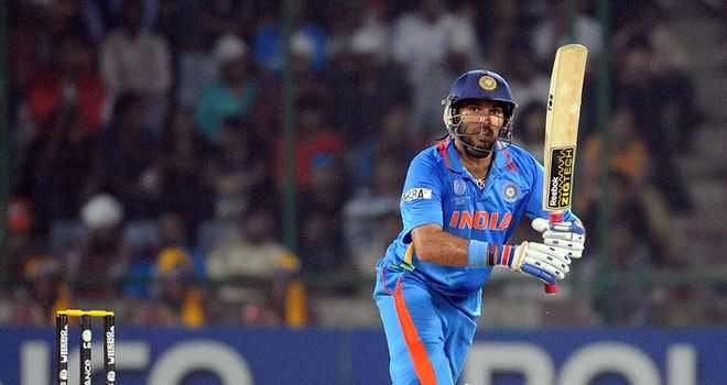 Finisher: Yuvraj saw India across the line with 51 not out