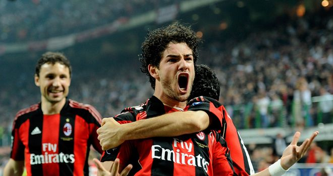 Alexandre Pato: AC Milan striker is back in training after month out
