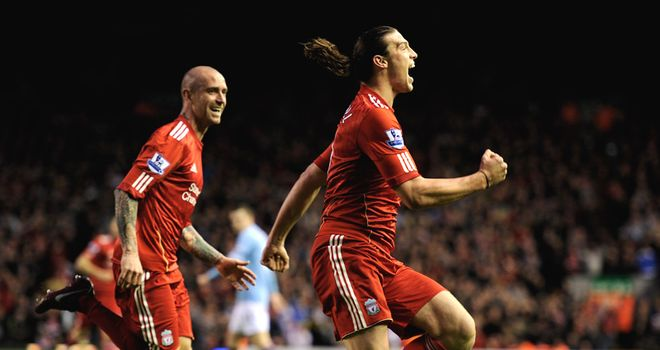 Carroll: Scored two first-half goals in a 3-0 win over Manchester City
