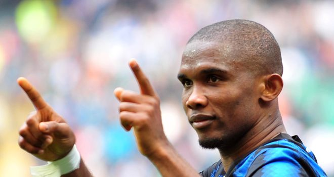 Eto'o: Scored 21 goals in Serie A last season