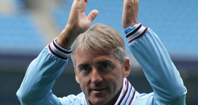 Mancini: Happy with Manchester City's forward progress