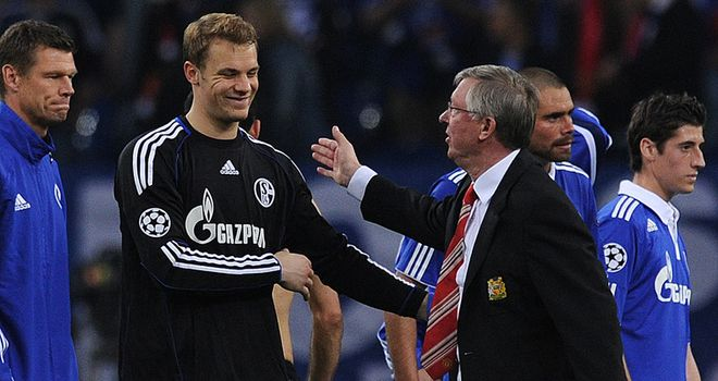 Neuer: Pleased with Ferguson's praise but unhappy with Schalke's defeat by Man Utd