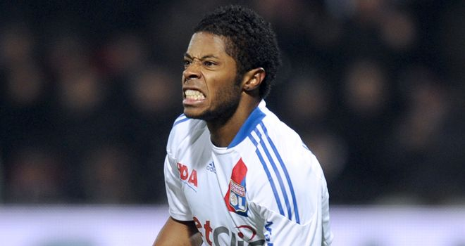 Bastos: Scored Lyon's second goal as they returned to the top of the table by beating Marseille