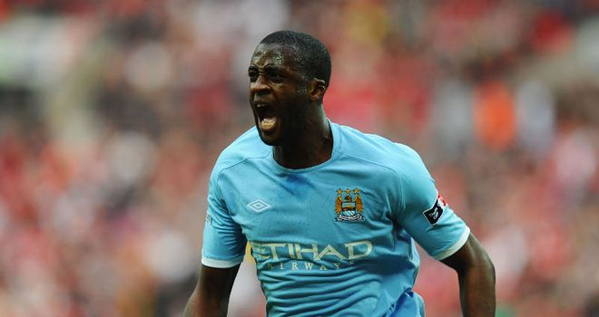 Toure: Dedicated his goal to brother Kolo following City's semi-final triumph