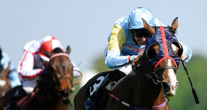 Askar Tau: Sweeps clear to win the Sagaro Stakes at Ascot