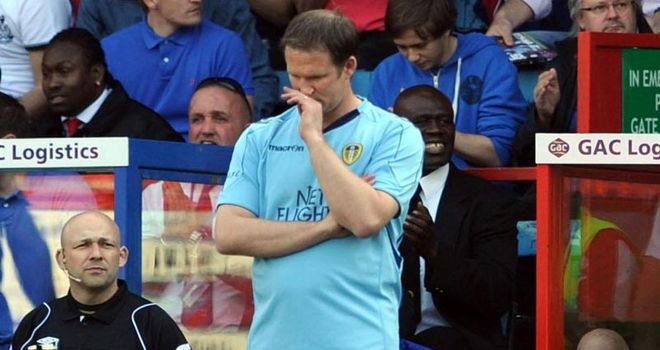 Sacked: Simon Grayson lost his job as Leeds manager on Wednesday