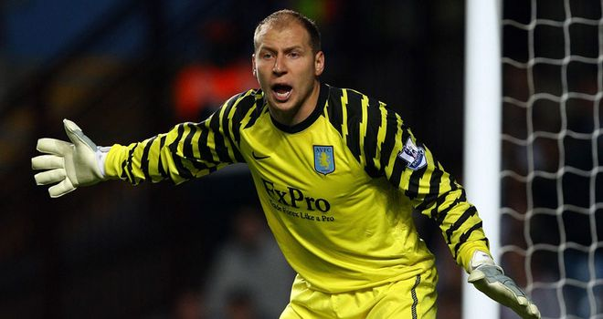 Brad Guzan: Set to provide cover for the injured Shay Given throughout the busy festive period