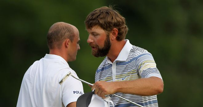 Glover: won at the first extra hole to secure victory
