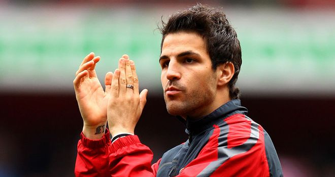 Fabregas: The midfielder is expected to be unveiled as a Barcelona player on Monday