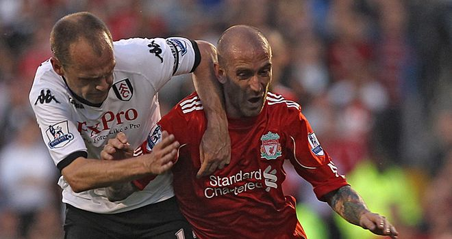 Murphy: Battled hard against a Liverpool side he believes can kick on going into next season