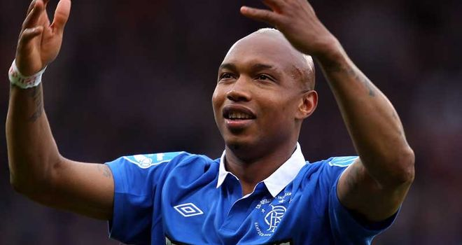 Diouf: Released by Blackburn after failing to see eye-to-eye with Kean