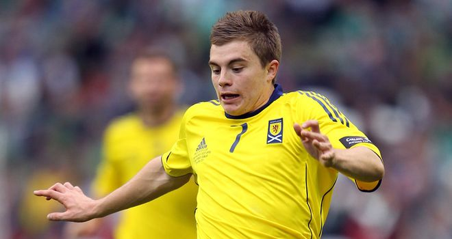 James Forrest: The Scotland winger was a constant threat against Slovenia