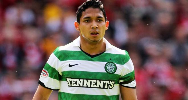 Izaguirre: Linked with move to Premier League after impressive first season at Celtic