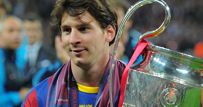 Messi modest after helping Barcelona to a third European Cup in six years