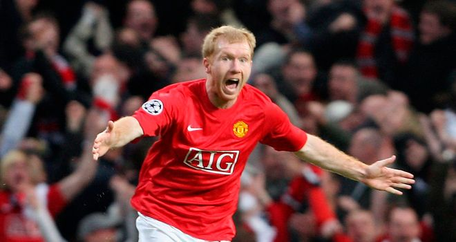 Scholes: Will be reunited with Cantona at his testimonial