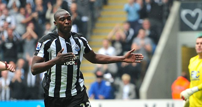 Ameobi: Made no mistake from the penalty spot after Ridgewell's red card
