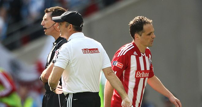 Etherington: Lasted just over an hour in the Wembley loss