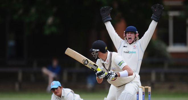 Pietersen: edged low to slip after making promising start