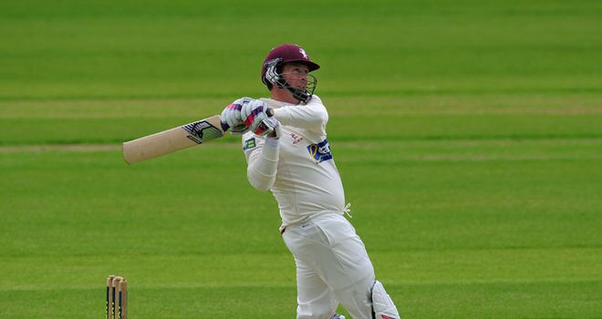 Trescothick made 151 from 131 balls in the second innings at Taunton