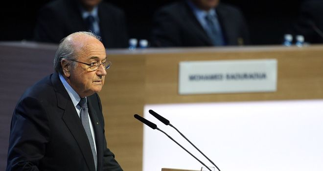 Sepp Blatter: The FIFA chief has sparked anger around the world
