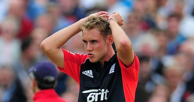 Broad: in trouble with the match referee again