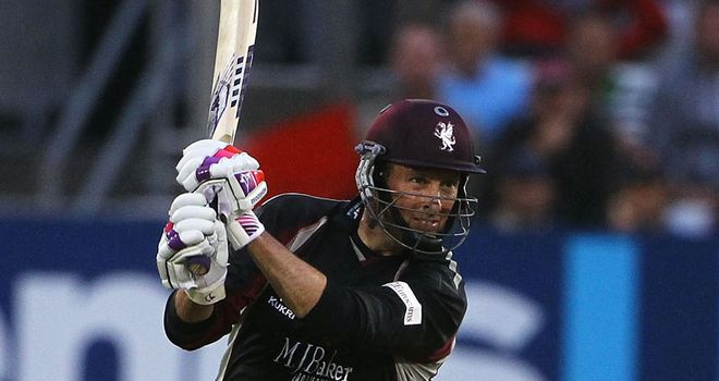 Somerset will be without captain Marcus Trescothick for six weeks