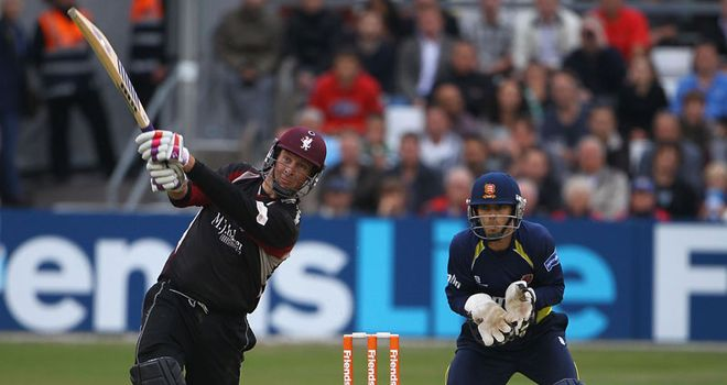Familiar sight: Trescothick was once again in free-scoring form