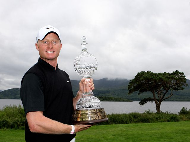Simon Dyson with the Irish Open trophy