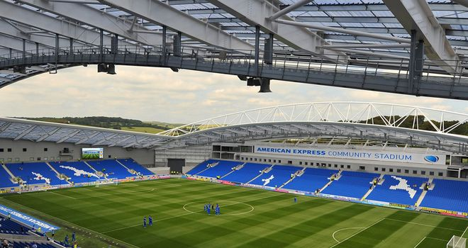 Amex Stadium: Brighton make first summer signing