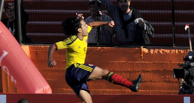 Falcao: Scored a last-gasp winner as Colombia beat Bolivia away from home