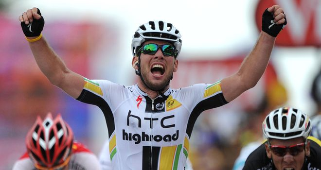 Cavendish: Powered past his rivals in closing stages for first win at this year's Tour