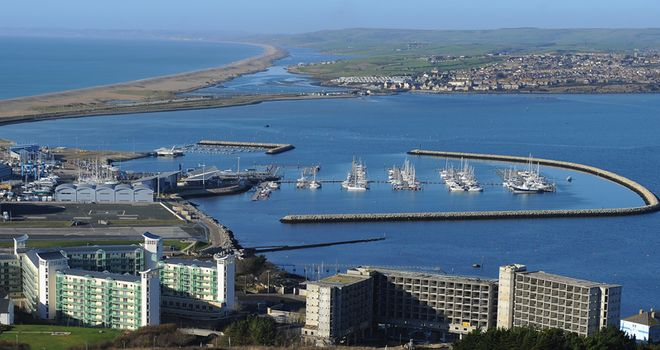 The incident occurred at Weymouth on Sunday
