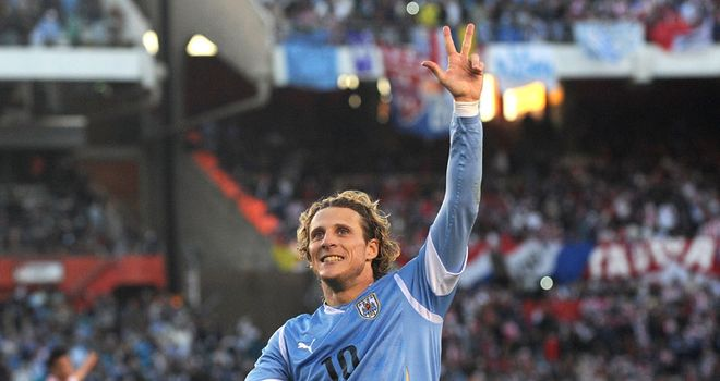 Forlan: Scored twice in final