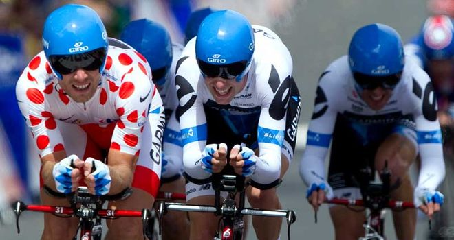 Hushovd: Led home his Garmin-Cervelo team to ride into the yellow jersey on stage two
