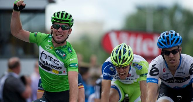 Cavendish: Made his rivals green with envy after yet another Tour stage win