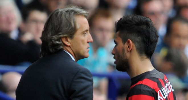 Sergio Aguero: Hoping to see Roberto Mancini stay at Manchester City