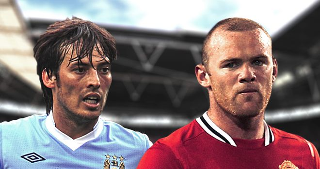 Silva and Rooney: gunning for the title