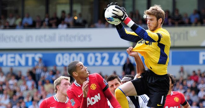 De Gea: Young goalkeeper has endured a tough start to life with Manchester United