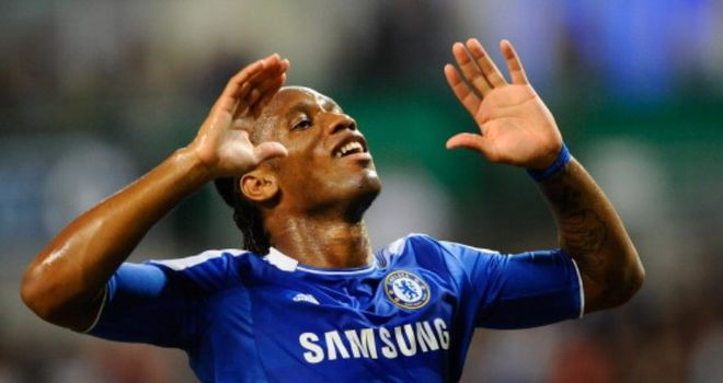 Drogba: Facing a race to play against Manchester United following his head injury