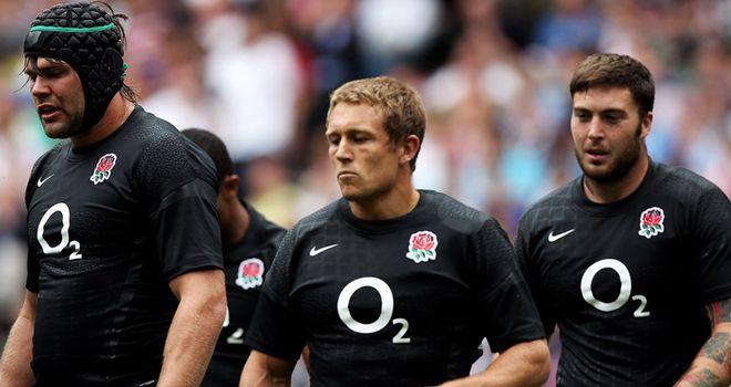 England show off their new black jerseys